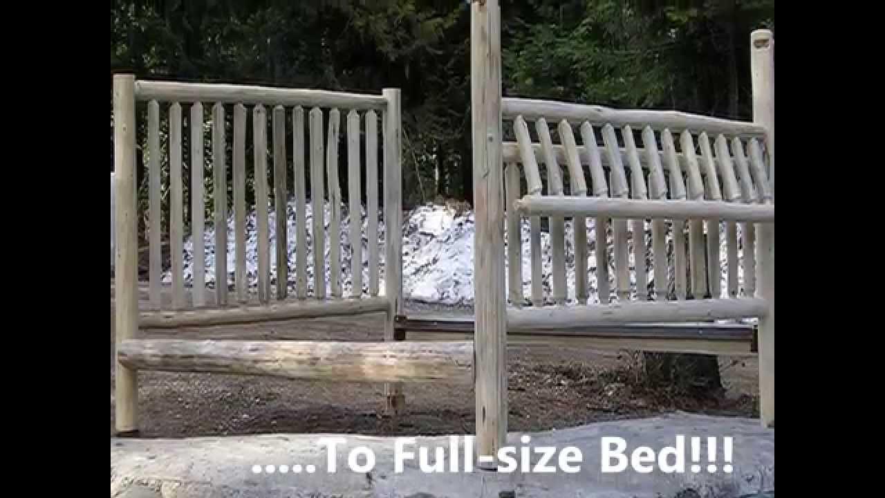 Montana Custom Log Furniture | Baby Crib Promo   YouTube
