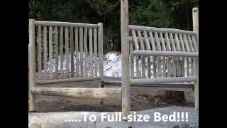 Montana Custom Log Furniture |  Baby Crib Promo