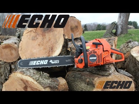 ECHO Chainsaw 18 inch Bar and Chain Safty 1st Unboxing, Cutting Trees and Review ZIMALETA How To