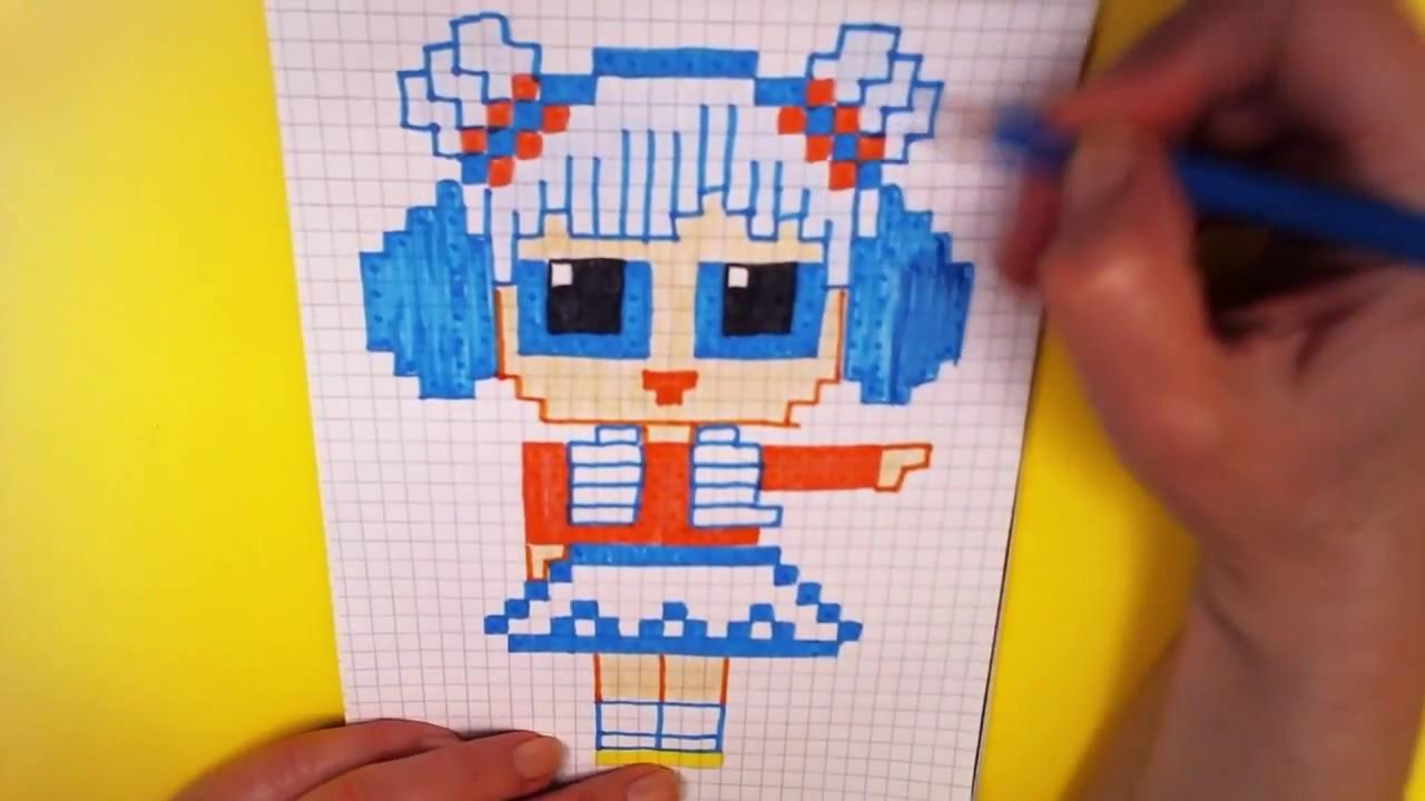 handmade pixel art doll lol snow angel surprise - how to draw lol surprise