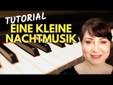 Mozart Eine Kleine Nachtmusik (A Little Night Music)Easy Piano Tutorial/Sheet Music