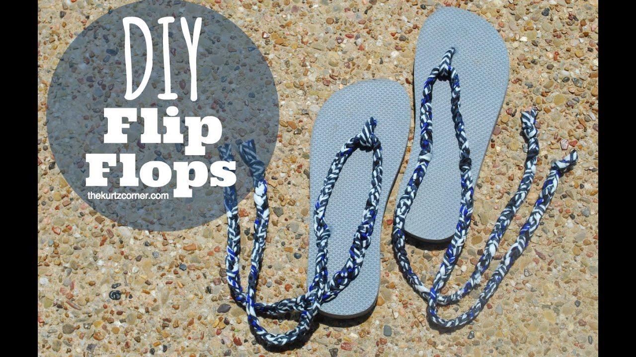 Diy Flip Flops Youtube