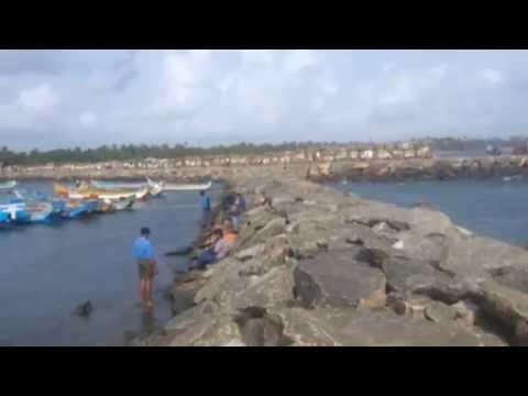 Tanur fishing harbor work site