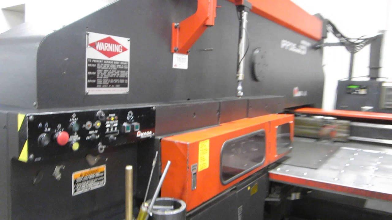 33 ton amada vipros 357 cnc turret punch st2239 youtube rh youtube com Amada Punch Tooling Amada CNC Punch Press