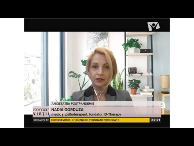 Dr. Nadia Gorduza la Emisiunea Provocarile vietii  - Speranta TV