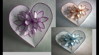 Cartão pop Up 3D,Flor,Diy presentes criativo,cartão dia das mães,namorado,lembrancinha,#artesanato