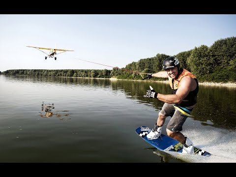 WAKEBOARD towed by a PLANE | Sensational wakeboard action presented by gloryfy