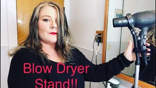 TESTING A BLOW DRYER STAND!! WOW!!