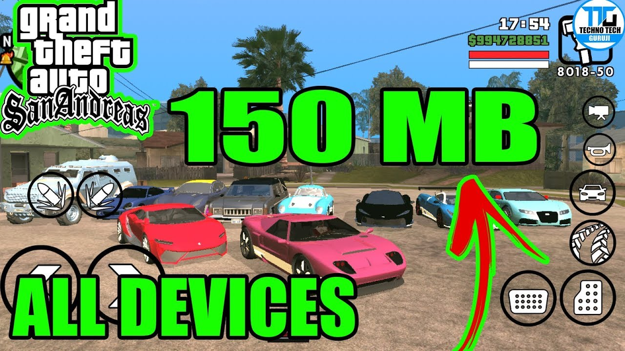 [150MB] GTA SA Lite Download With Cleo MOD | Nougat 7 0 | All GPU | Highly  Compressed