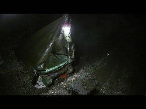小舟で釣りして食べて泊まって夜の露天風呂から釣りしたよ!