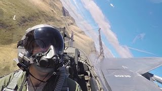 Breathtaking Aerial Footage From F-15E Strike Eagle Cockpit