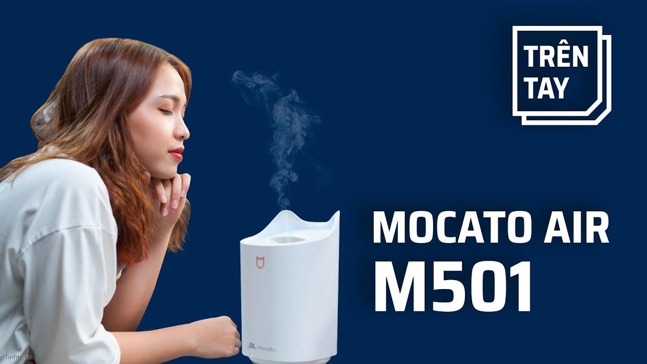 Trên tay máy phun sương tạo ẩm Mocato Air M501