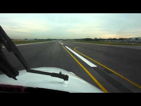 WSSL Singapore Seletar Airport - Approach and Landing Rwy 21 - Cheyenne II PA31T