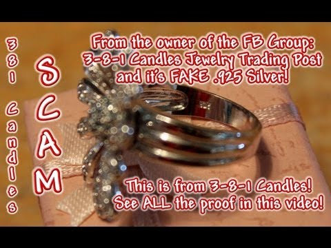 Screenshots! Proof Rings are 3-8-1 Candles Jewelry & FAKE SILVER! #381Candles