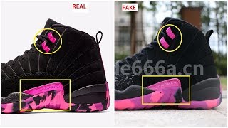 55df43322bb0 Fake Air Jordan 12 XII Doernbecher Spotted- Quick Ways To Identify Them