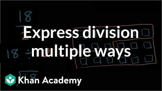 Example: Expressing division in multiple ways | Arithmetic | Khan Academy