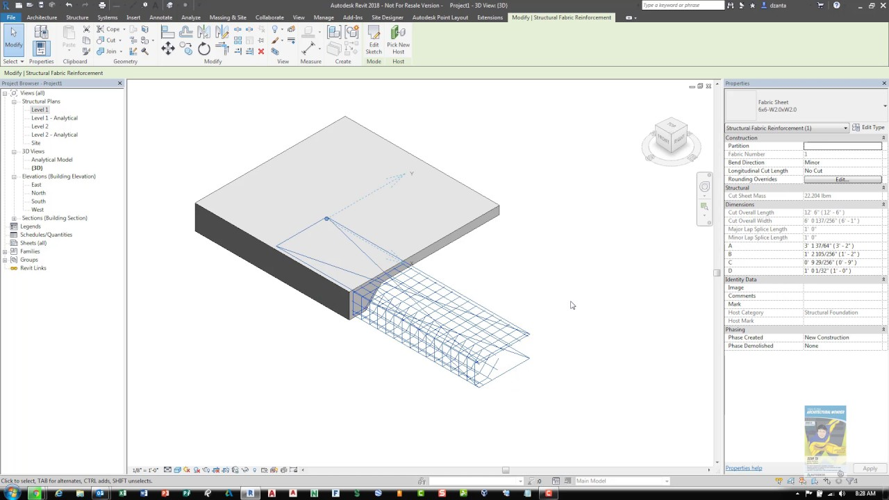Revit 2018 Fabric Reinforcing Commands - A How To Guide