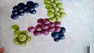 Uvas – Grapes – Pintura em Tecido