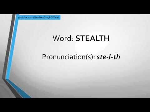 WorDay - Stealth - Meaning and Pronunciation
