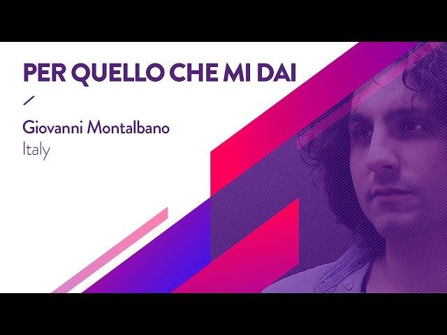 Giovanni Montalbano - Per quello che mi dai