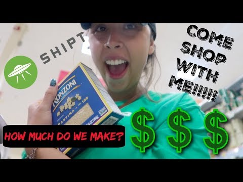 MY FIRST DAY WORKING AS A SHIPT SHOPPER (HOW MUCH I GOT PAID) COME SHOP WITH ME!!!!