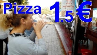 Пицца в Черногории цена (Pizza in Montenegro price)(Знакомимся с ценами на питание в Черногории. Традиционная пицца стоит 1.5 евро. Можно найти пиццу и за один..., 2016-07-02T12:01:52.000Z)