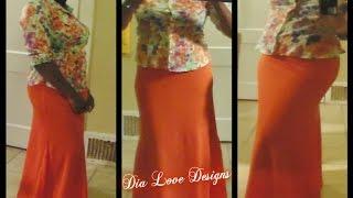 Comfy Casual & Cute. Simple A Line Skirt Tutorial