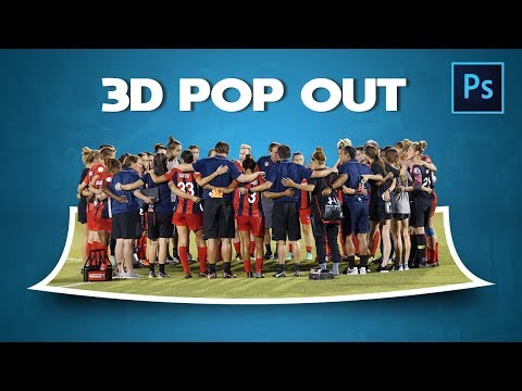 [Photoshop Tutorial] Making 3D Manipulation Photo Effect in Photoshop - 3D POP OUT thumbnail