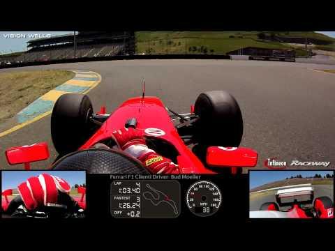 Ferrari Challenge Infineon Raceway - Ferrari F1 Clienti Driver: Bud Moeller / Session 1 - FULL Video