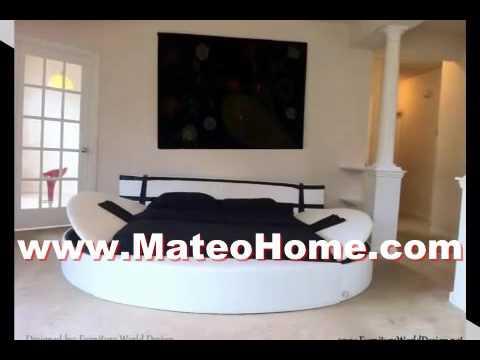 Simple Round Platform Bed Bedroom Comforter Sets - YouTube