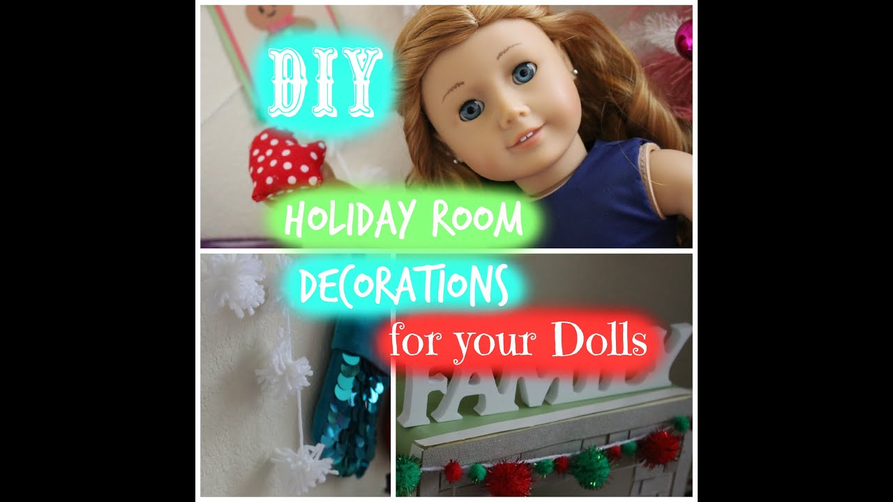 How to make christmas decorations for your ag doll -