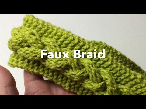 How To Loom Knit Fast Faux Braid Headband Or Scarf Youtube