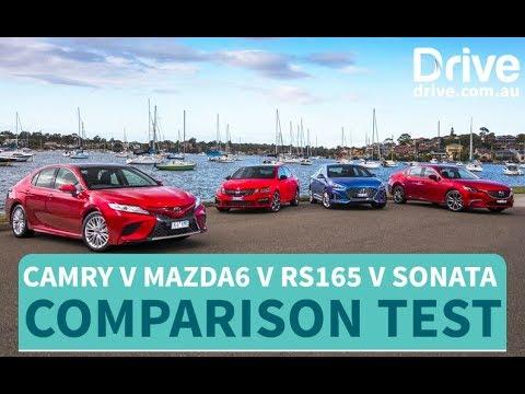 2018 Camry v Mazda6 v RS165 v Sonata   Drive.com.au - Dauer: 11 Minuten