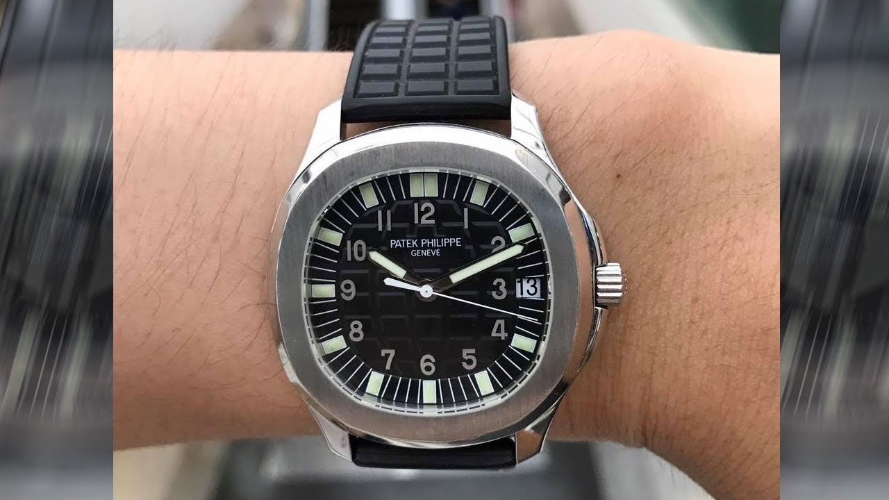 Patek Philippe Aquanaut 5065a Black Embossed Dial 38 Mm Stainless