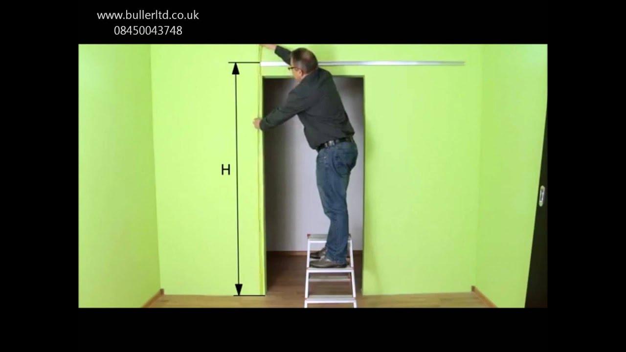 Hanging Sliding Door Kit Jupiter Single Sliding Door Gear Track Kit Installation Tutorial