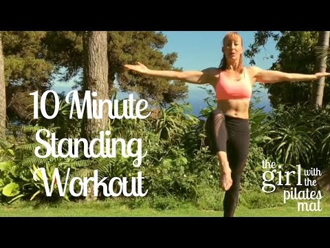 10 Minute Standing Pilates Workout No Equipment Needed!