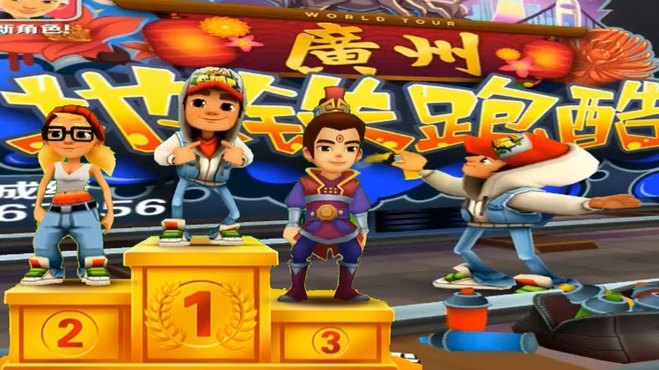 Subway Surfers Funny Racing - JAKE vs Tricky vs Chinese man - Free
