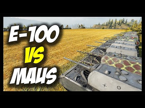 ► World of Tanks: 15 x Maus vs 15 x E-100 - The Battle Of Super-Heavy Tanks - Face Off #8