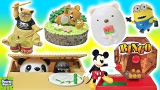 TOY Unboxing Bingo! Coin Stealing PANDA! Crazy Rock Band Cats! Sumikko Gurashi Squishy Doctor Squish