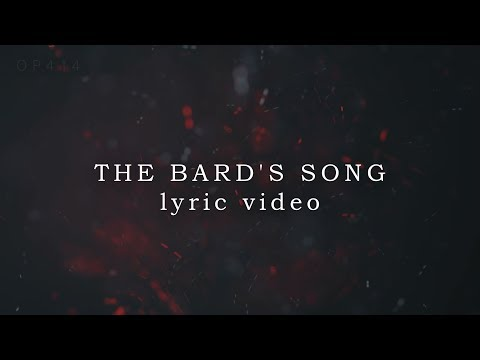 Blind Guardian - The Bard's Song/Lyric Video (HD SOUND AND VIDEO)