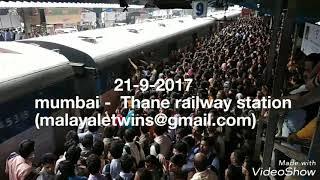 mumbai local train heavy rush today