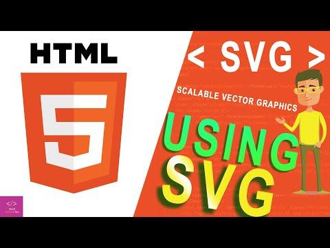 HTML 5 Tutorials #2 - Using SVG | SVG tag | writing SVG code thumbnail