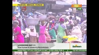 Lockdown Day 11: How Kumasi is observing the lockdwon - Badwam on Adom TV (9-4-20)