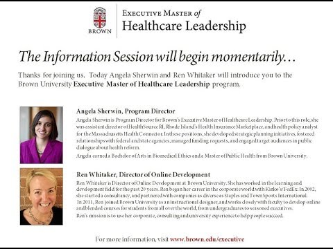 Executive Master of Healthcare Leadership: Information Session
