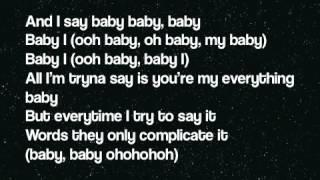 Ariana Grande Baby I Lyrics On Screen