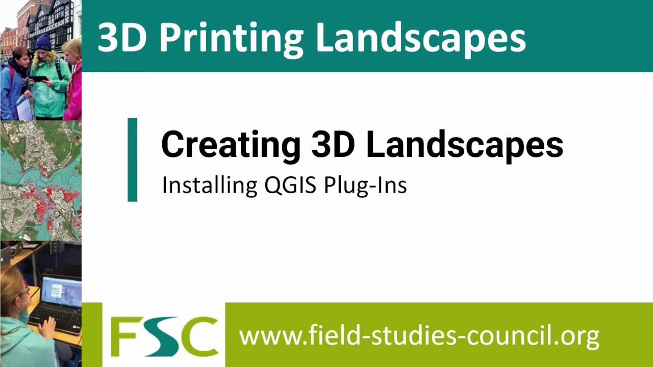3D printing Landscapes - Installing QGIS Plugins