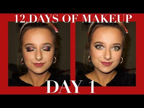 12 DAYS OF MAKEUP | DAY 1: SANTACON MAKEUP TUTORIAL | sydney scavello thumbnail