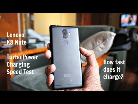 Lenovo K8 Note Fast Charging (Turbo Power Charging) Speed Test