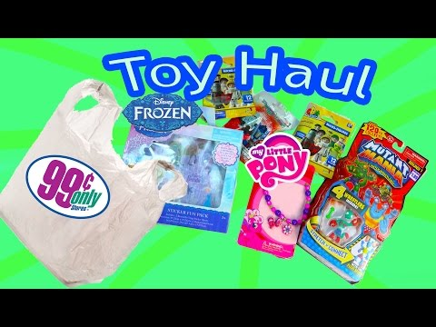 Disney Frozen Queen Elsa 99 Cents Store $1 Dollar BLIND BAGS Toy Haul Doll My Little Pony Video