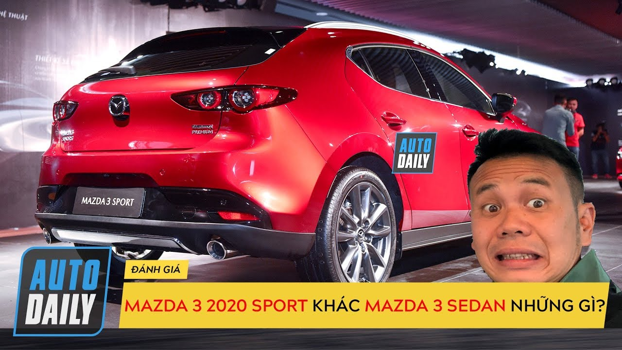 Những khác biệt trên Mazda 3 Sport hatchback 2020 so với Mazda 3 sedan